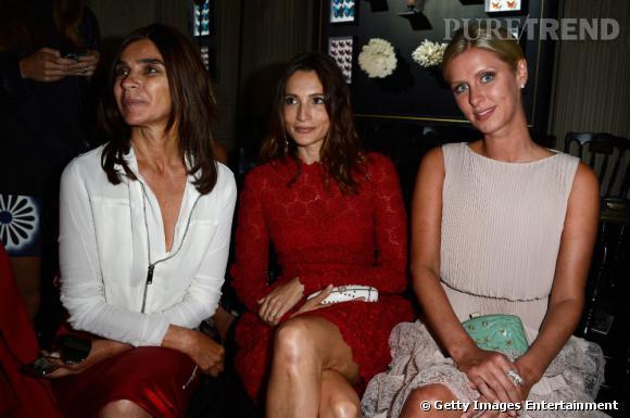 Carine Roitfeld, Astrid Munoz et Nicky Hilton assistent au défilé Haute Couture Automne-Hiver 2013/2014 Valentino.