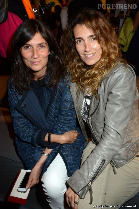 Emmanuelle Alt et Mademoiselle Agnès au défilé Jean Pault Gaulthier.