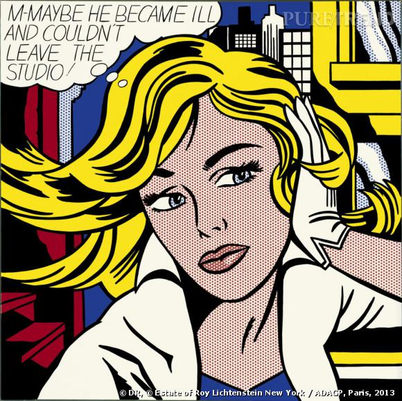 M-Maybe [P-Peut-être], 1965. Museum Ludwig, Cologne Schenkung Ludwig. © Estate of Roy Lichtenstein New York / ADAGP, Paris, 2013.