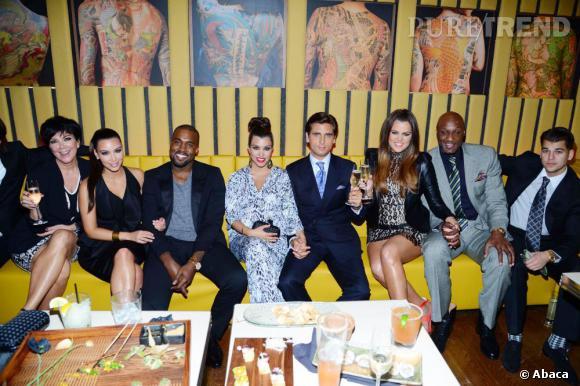 Kris Jenner (à gauche) refuse un possible mariage de Kim Kardashian et Kanye West.