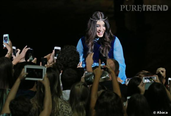 Lana Del Rey en concert à Moscou.