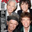 The Rolling Stones en couverture du magazine Rolling Stone pour le mois de mai 2013.