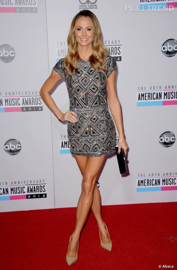 Stacy Keibler, l'ex future Madame Clooney, a fait assurer son interminable paire de gambettes.
