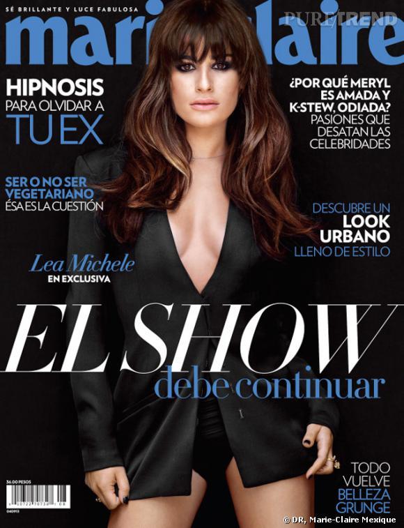 Lea Michele fait la couv' d'août du Marie Claire Mexique. Son petit ami Cory Monteith lui avait rendu visite sur le shooting photo...