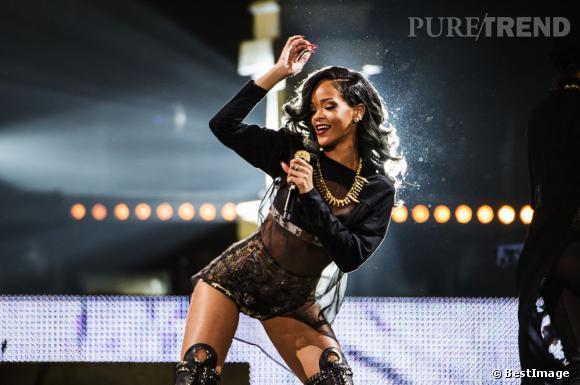 Rihanna a surpris ses fans lillois en se mettant à pleurer en plein concert... (ici en concert à Stockholm)