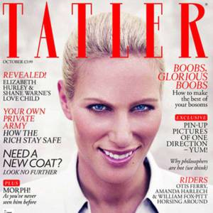 Zara Phillips en couverture de Tatler.