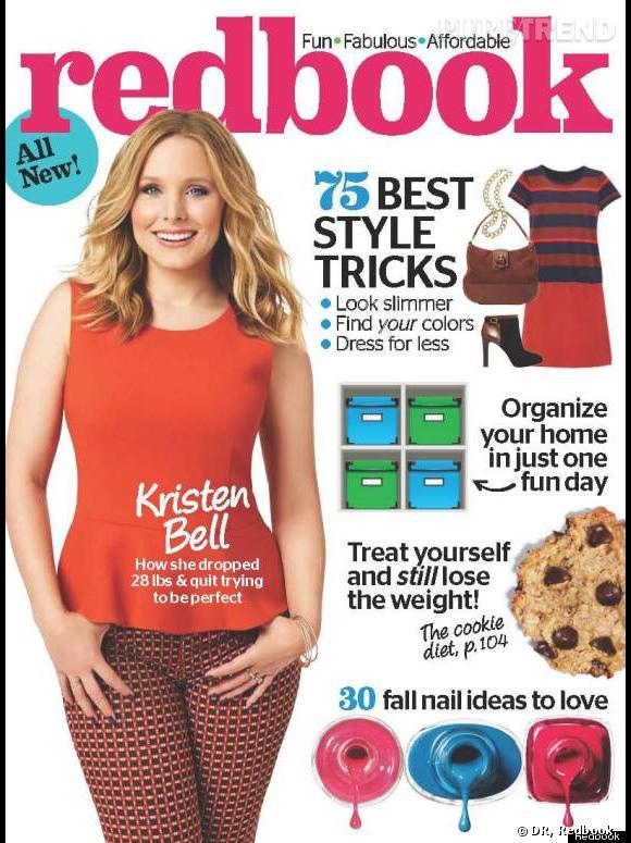 Kristen Bell en une du magazine Redbook