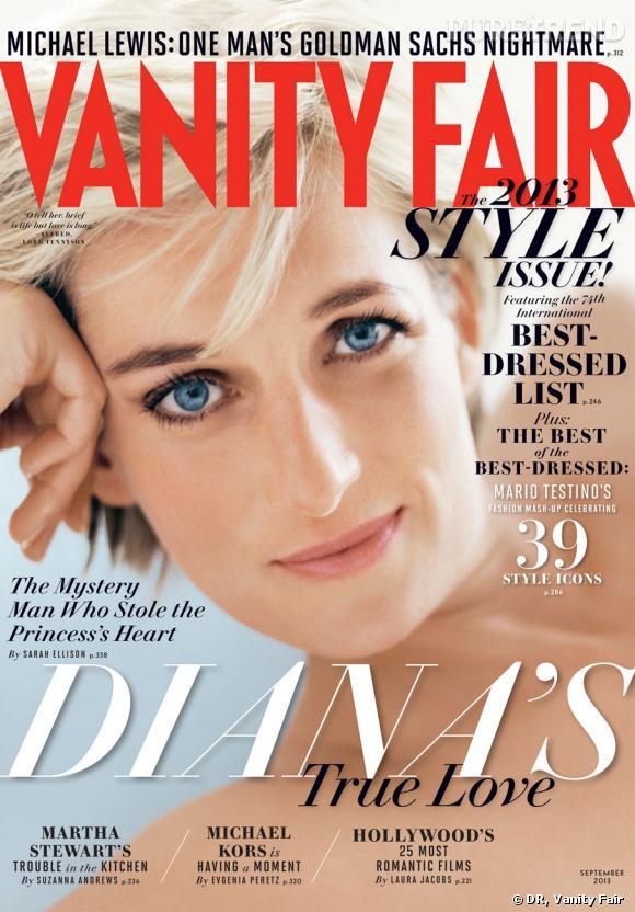 """Lady Diana en couverture du """"september issue"""" de Vanity Fair en 2013."""