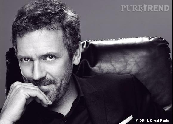 Hugh Laurie, une égérie Men Expert qui sait se faire remarquer à la télévision.