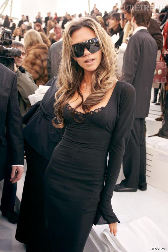 Victoria Beckham en 2006, les cheveux longs.