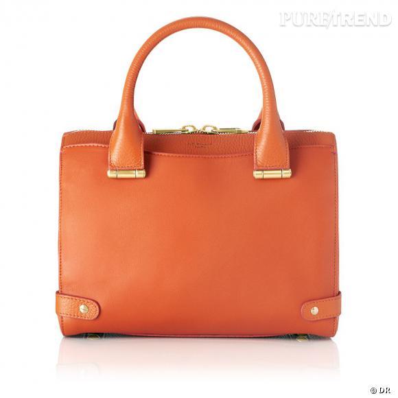 Must have : les it-bags Rosamund, collection capsule Rosamund Pike x L.K.Bennett    Sac Rosie orange, 525 €