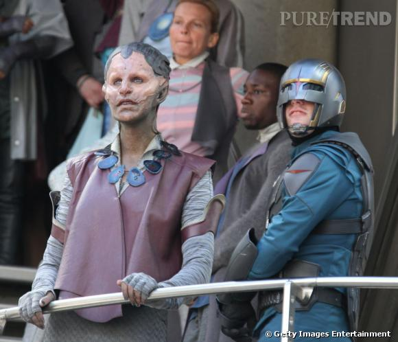 Glenn Close joue Nova Prime, la chef de la super police du futur, les Nova Corps.