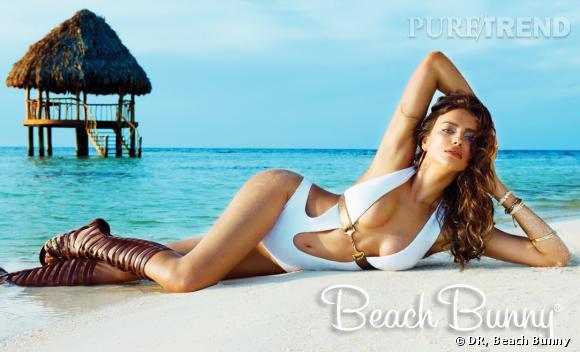 Irina Shayk, mannequin pour Beach Bunny.