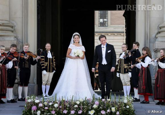 La Princesse Madeleine de Suède est sublime en robe de mariée Valentino.