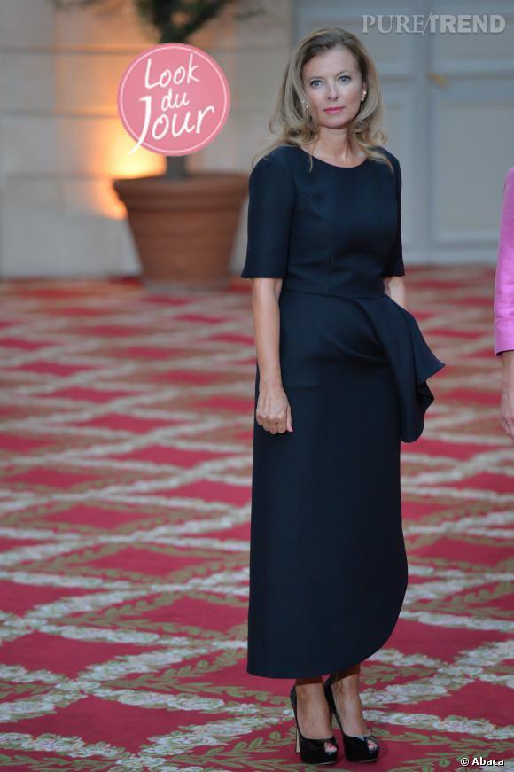 Valerie Trierweiler lors d'une réception à l'Elysée en l'honneur du couple présidentiel allemand.