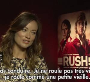 """Olivia Wilde, Chris Hemsworth et Daniel Brühl plaisantent au sujet de """"Rush""""."""