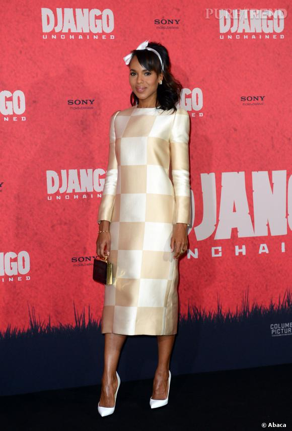 Kerry Washington joliment rétro en Louis Vuitton.