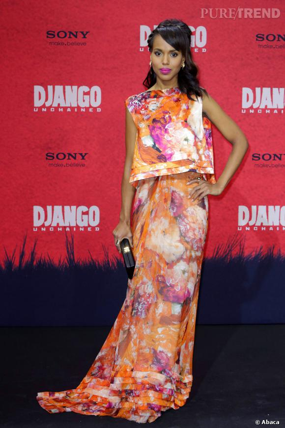 Kerry Washington joliment colorée en J. Mendel.