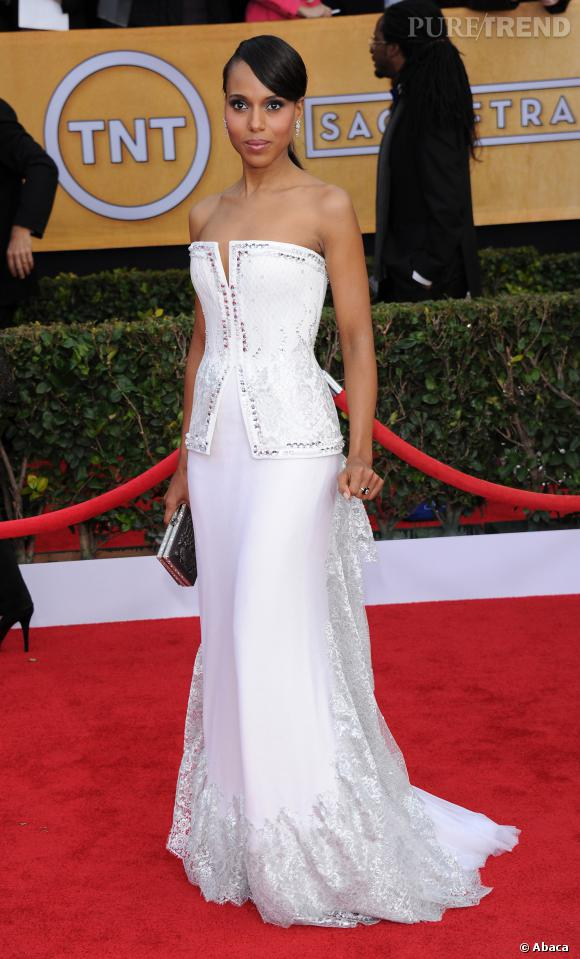 Kerry Washington virginale en Rodarte.