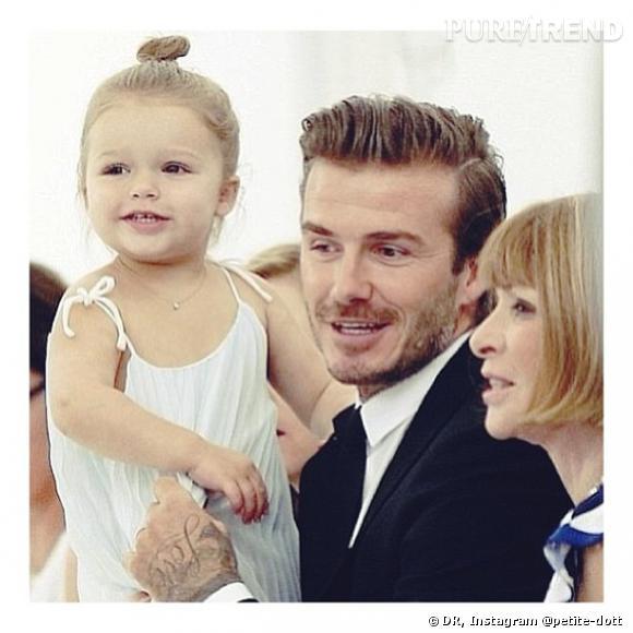 David Beckham a craint l'incident avec sa petite Harper.