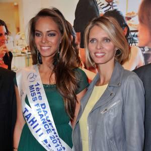 Sylvie Tellier et Hinarani de Longeaux, le duo glamour du salon.