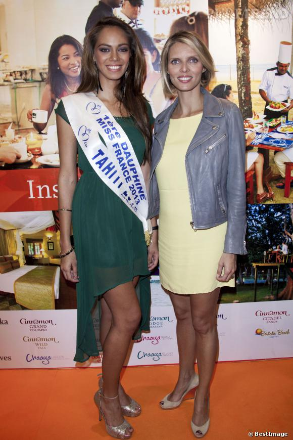 Sylvie Tellier et Hinarani de Longeaux au salon Top Resa de Paris le 25 septembre 2013.