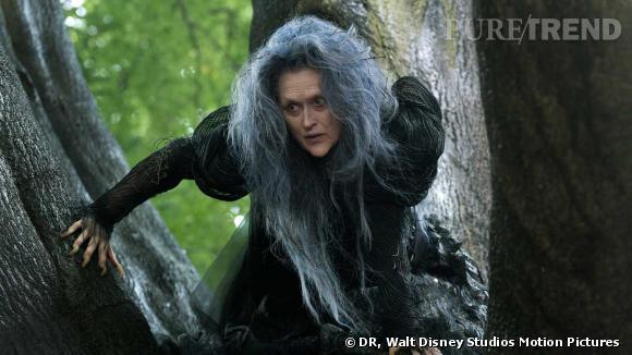 Dans Into The Woods, Meryl Streep incarne une effrayante sorcière qui tente de retrouver sa beauté.