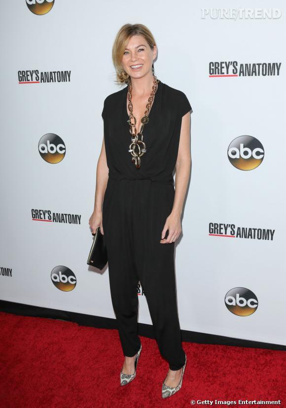 Ellen Pompeo alias Meredith Grey à la soirée organisée pour le 200ème épisode de Grey's Anatomy à Hollywood.