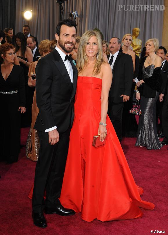 Jennifer Aniston et Justin Theroux : un joli couple sur tapis rouge.