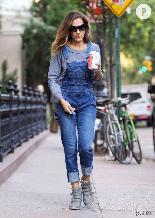 Sarah Jessica Parker emmène ses filles à l'école, à New York.