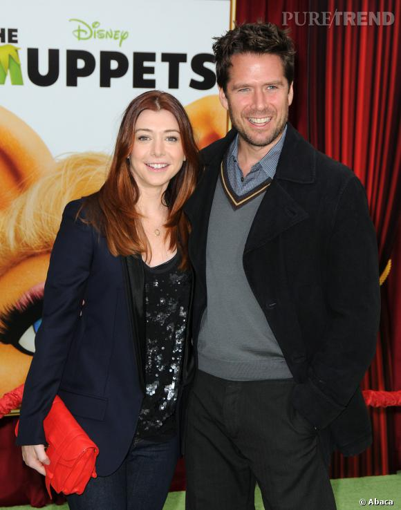 """Alyson Hannigan et Alexis Denisof se sont rencontrés sur le plateau de """"Buffy Contre les Vampires"""" avant de se marier en 2003."""
