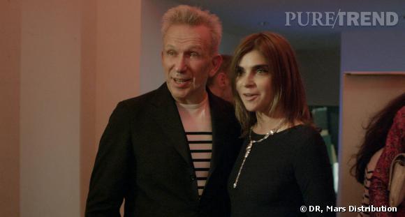 Carine Roitfeld et le créateur Jean Paul Gaultier.