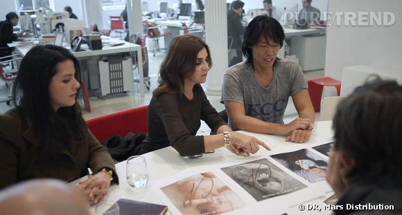 Carine Roitfeld et son équipe avant le lancement du premier numéro de  CR Fashion Book .