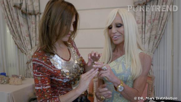 Carine Roitfeld et Donatella Versace.