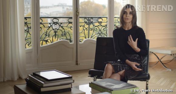 Carine Roitfeld dans son appartement parisien.