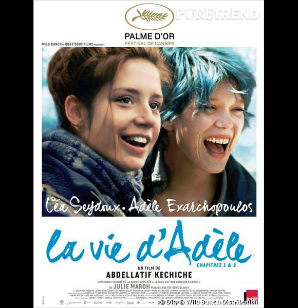 """""""La Vie d'Adèle"""" d'Abdellatif Kechiche avec Léa Seydoux et Adèle Exarchopoulos."""