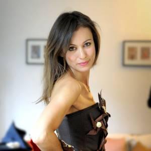 Marie-Ange Casalta essaie sa robe pour le Salon du Chocolat, qui aura lieu du 30 octobre au 3 novembre.
