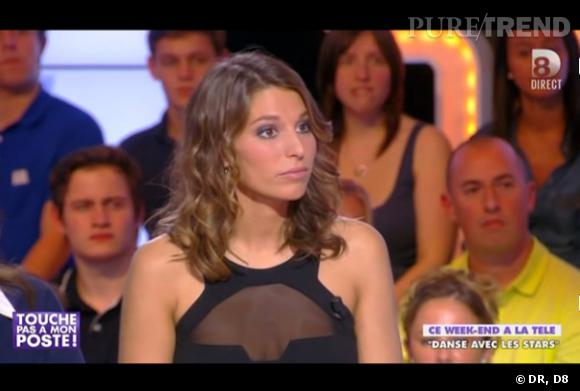 """Laury Thilleman sur le plateau de """"Touche pas à mon poste""""."""