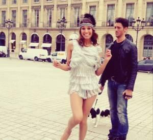 Laury Thilleman répète en plein Paris.