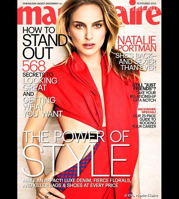 Natalie Portman en Une du Marie-Claire US.