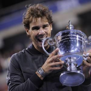 Rafael Nadal lors de sa seconde victoire à l'US Open.
