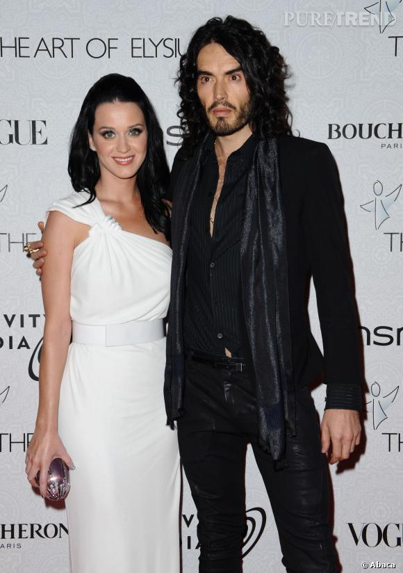 Katy Perry et son ex-mari Russell Brand.