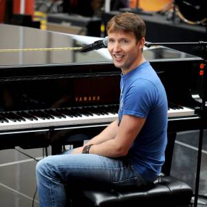 James Blunt continue sa tournée promotionnelle, comme ici à New York.
