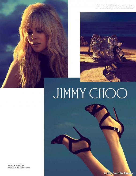 Nicole Kidman pour la collection Croisière 2014 de Jimmy Choo.