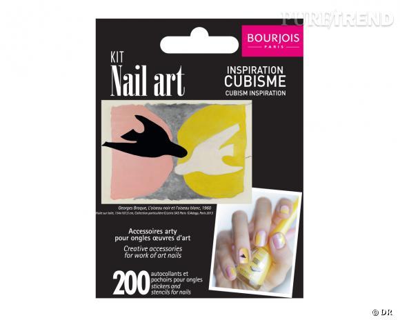Le must have d'Amélie W. : kit Nail Art inspiration cubisme en partenariat avec le Grand Palais, Bourjois, 8,75 €