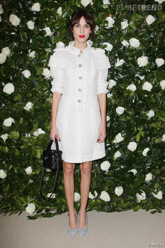 Alexa Chung à la soirée donnée en l'honneur de Tilda Swinton au MoMa de New York.
