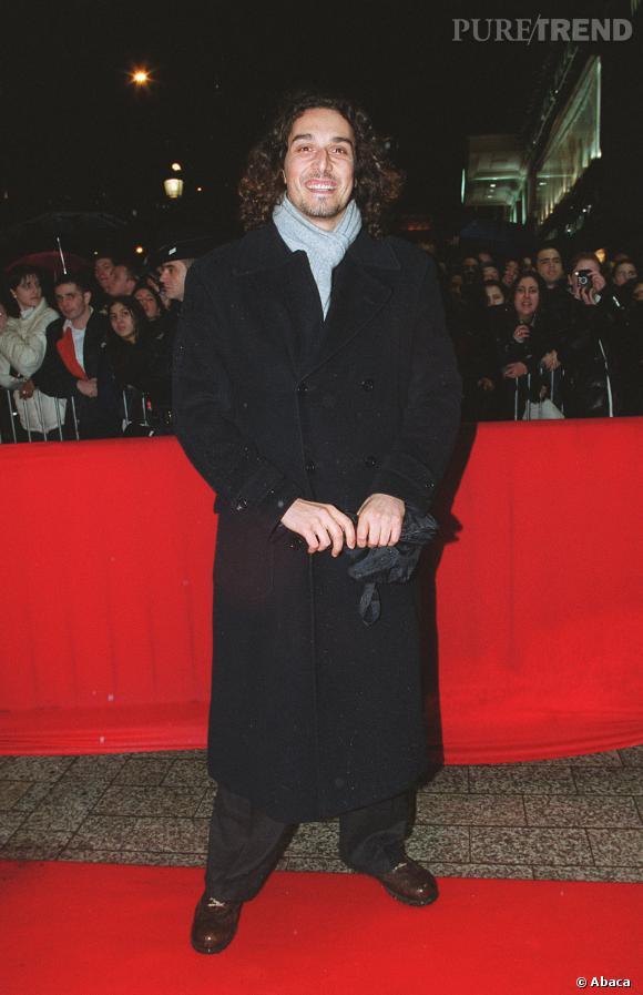 """Vincent Elbaz en 2000 lors de la première de """"La Plage"""" à Paris, on est encore loin du top question style."""