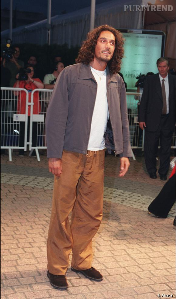 Vincent Elbaz chevelu en 2000 au Festival du film de Deauville.
