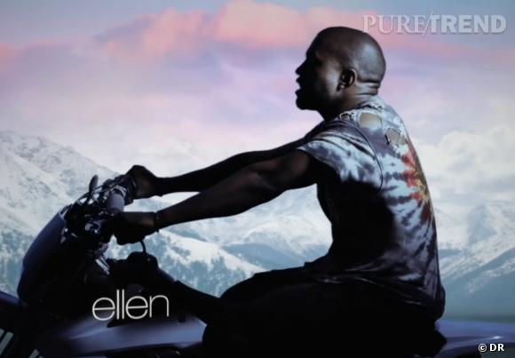 Kanye West biker d'un jour.
