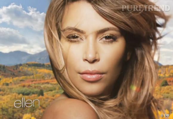 Kim Kardashian en pleine pub pour un shampoing ?